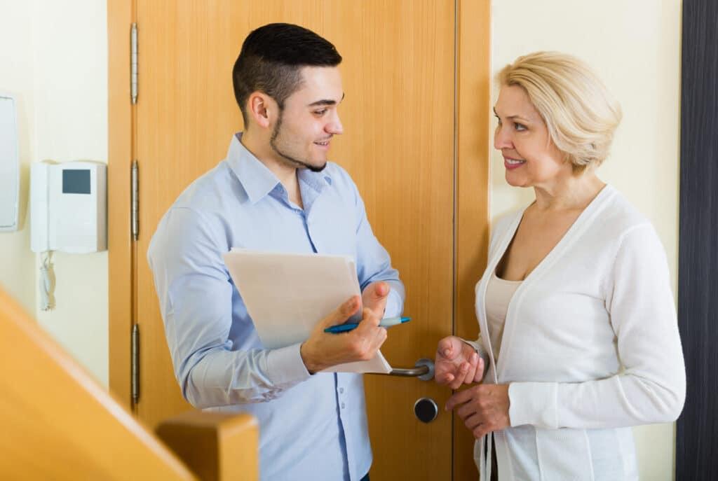 human resources explaining document to employee